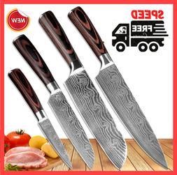 PRO Kitchen Chef Japanese Cleaver Slicing Sharp Knives Steel