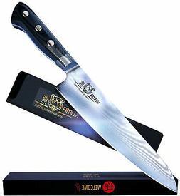 "KUMA Japanese Damascus Stee Chef Knife - Professional 8"" H"