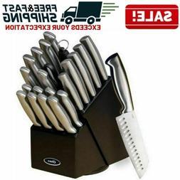 Professional Kitchen Knife Set Block Stainless Steel  Sharp