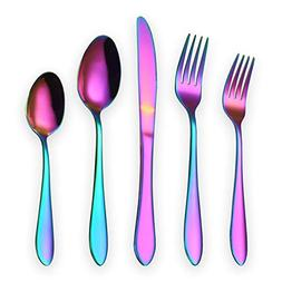 HOMQUEN Titanium Colorful Plated Stainless Steel Flatware Se