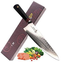 Tuo Cutlery 9.5 inch Pro Chef Knife - Japanese AUS-10D Damas