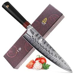TUO Cutlery 8 inch Pro Chef Knife - Japanese AUS-10D Damascu