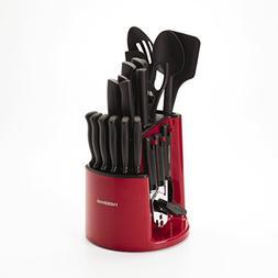 30-Piece Rotating Caddy Kitchen Knife Holder Cutlery Block C