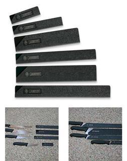 Mundial Safe Edge Knife Guards Set of 6 Pommels Mercer Shun