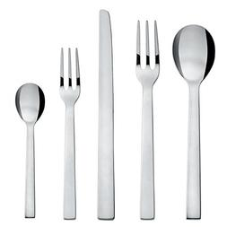 Alessi DC05S5 Pcs.Cutlery Santiago 5 Piece Cutlery Set, Silv