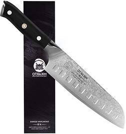 Santoku Japanese Chef Knife, 7 inch, Professional Grade - Da