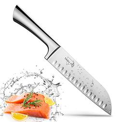 Santoku Knife Kitchen Knife Japanese Sushi Knife, 7 Inch Hol
