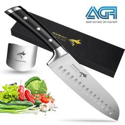 Santoku Knife - MAD SHARK Pro Kitchen Knives 7 Inch Chef's K