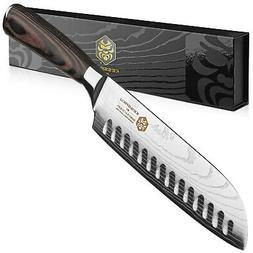 Kessaku Santoku Knife - Samurai Series - Japanese Etched Hig