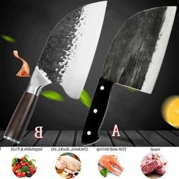 Serbian Forged Butcher Knives Cleaver Chop Cutting Kitchen C
