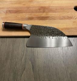 Serbian Handmade Forged Butcher Chef Knife Chopping Cleaver