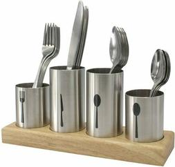 Sorbus Silverware Holder with Caddy for Spoons, Knives Forks