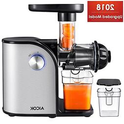 Aicok Slow Masticating juicer, Cold Press Juice Extractor, S
