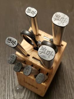 古伝 GINSU Stainless Kitchen Knife Block Set