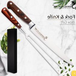 Sowoll Stainless Steel Chef <font><b>Knife</b></font> & Fork