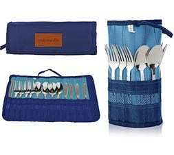 13 Piece Stainless Steel Family Cutlery Picnic Utensil Set w
