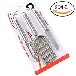 3Pcs Stainless Steel Kitchen Set Fish Scale Cleaner, Paring
