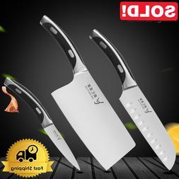 Stainless Steel Santoku Damascus Chef Kitchen Knife Set Kniv