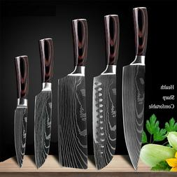 Stainless Steel Santoku Kitchen Laser Damascus Professional