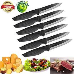 Steak knives set of 6, DSNN Ceramic Knife Steak Sharp Knives