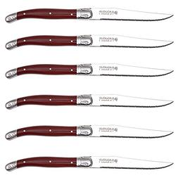 Hailingshan Laguiole Steak Knives, Set of 6 Heavy Stainless