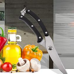 1Pcs Strong Knives Kitchen Shears Stainless Steel Poultry Fi