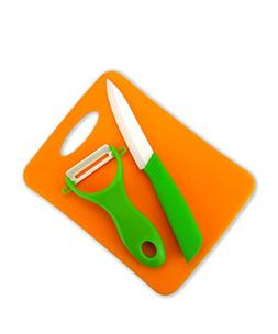 Tim Home 3 Pieces Green Handle Ceramic Cutlery Kitchen Knife