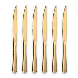 Berglander Titanium Gold Plated Stainless Steel Steak Knives