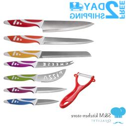 Top Chef Knife Set 8pc Colorful Slice Cut Peel Amazing Gift