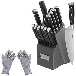 Cuisinart Triple Rivet Collection 15-Piece Knife Block Set,