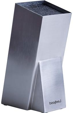 Knife Block Stainless Steel Without Knives - Modern Design U