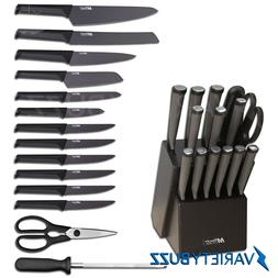 15 PIECE MTECH USA STAINLESS STEEL PROFESSIONAL KITCHEN KNIF