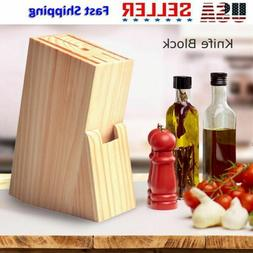 Wood Cutlery Knife Block Kitchen Knives Holder Storage Organ