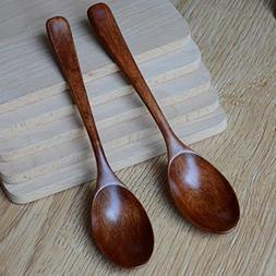LtrottedJ Lot Wooden Spoon, Bamboo Kitchen Cooking Utensil T