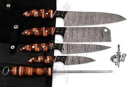 WP-007 Custom Handmade Damascus Professional kitchen Chef kn